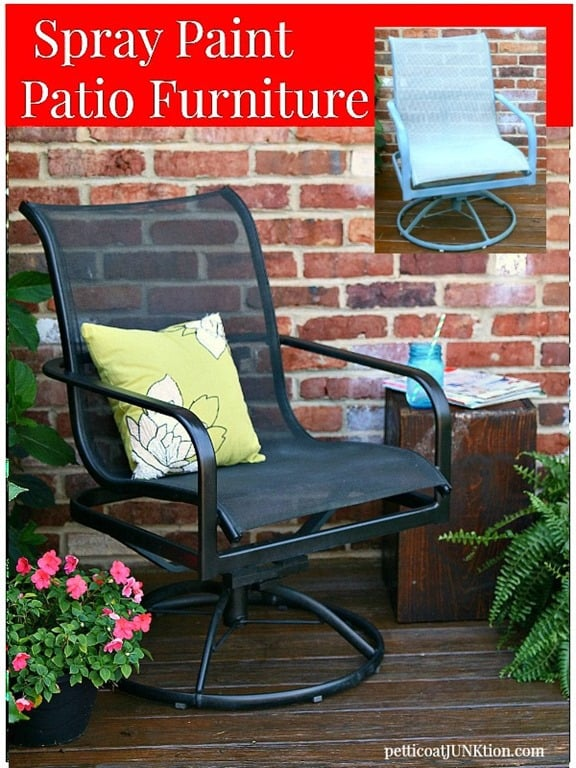 The easy way to paint metal patio furniture petticoat junktion Spray painting metal patio furniture