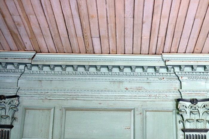 ceiling of upper room Drayton Hall