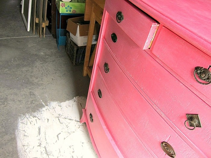 coral chest of drawers