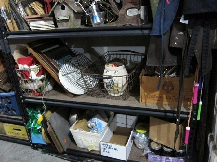 shelves full of treasures