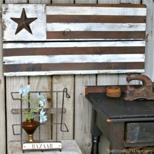 DIY Rustic Farmhouse Style American Flag
