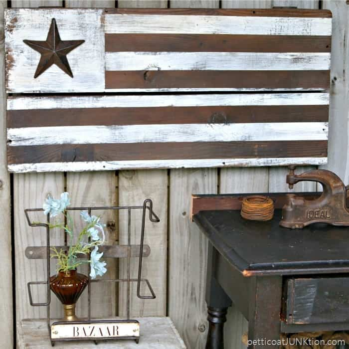 DIY Rustic Farmhouse Style American Flag Petticoat Junktion