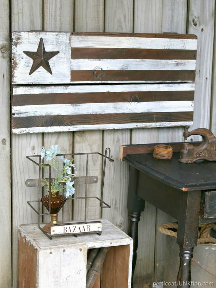 DIY Rustic Farmhouse Style Flag Petticoat Junktion project