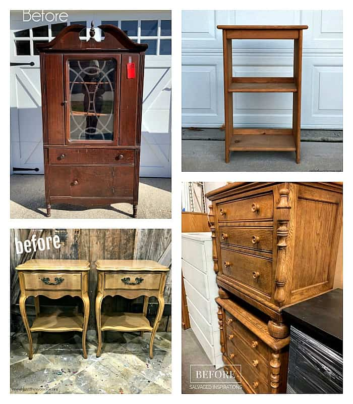 Furniture Fixer Uppers Projects before makeover