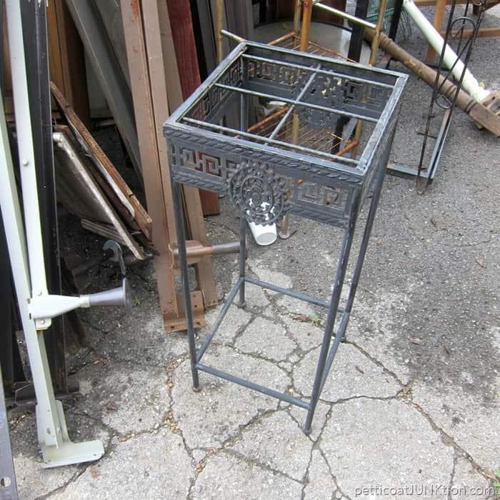 Iron table base