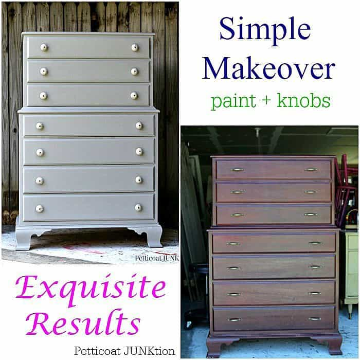 Paint and New Knobs Make A Statement on Furniture Makeover Petticoat Junktion