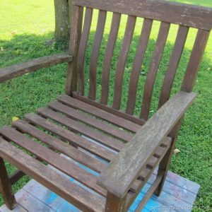Replacing A Missing Wood Slat In An Outdoor Chair