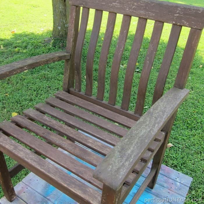 Replacing A Missing Wood Slat In An Outdoor Chair Petticoat Junktion project