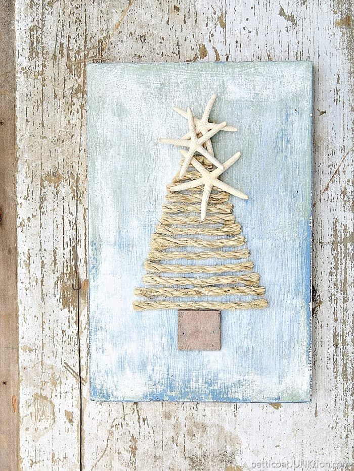 make a sisal rope tree topped with starfish - Sisal Rope