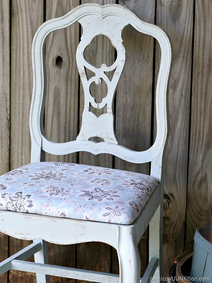 Waverly Pre-Mixed Paint Colors Match The Fabric Petticoat Junktion chair 1