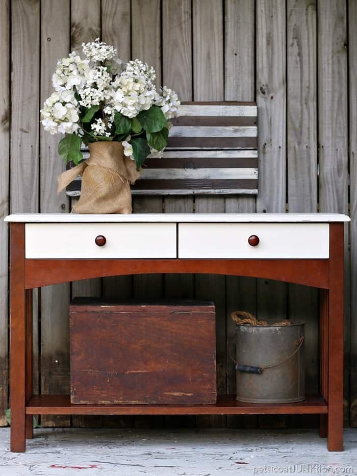 West Elm Inspired Sofa Table Petticoat Junktion project