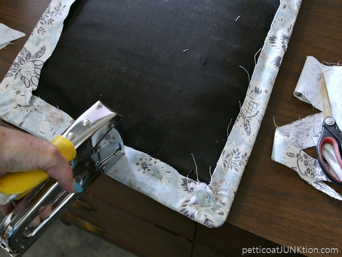 covering a chair seat with Waverly Inspirations Fabric