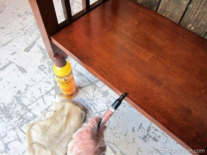 furniture touch up marker for scratches and Howards feed n wax for finish refresher