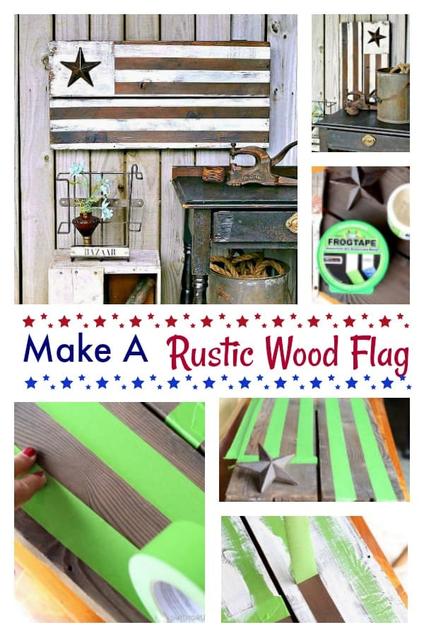 how to make a rustic wood flag with reclaimed wood