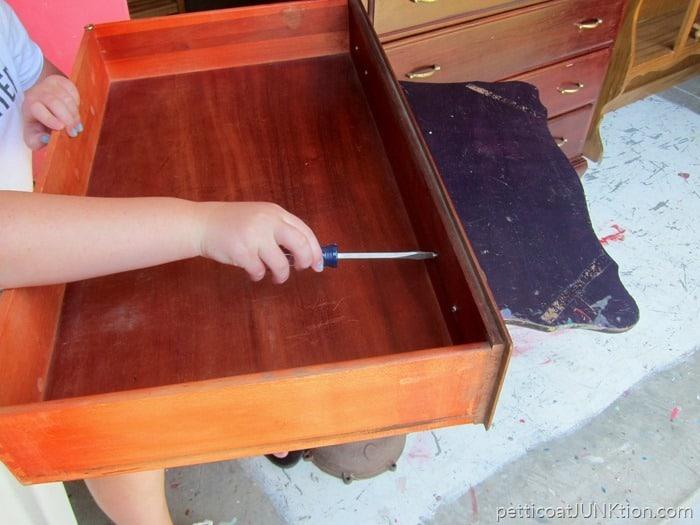 removing original furniture knobs