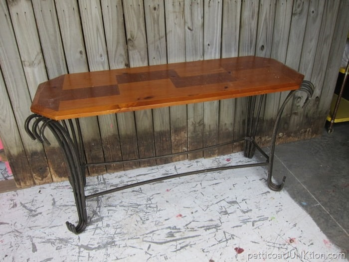 sofa table for makeover