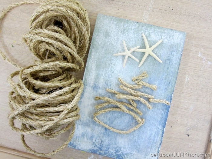 Make A Sisal Rope Tree Topped With Starfish - Petticoat Junktion
