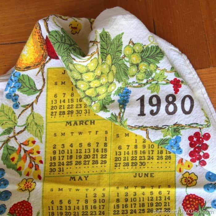 vintage fabric calendar