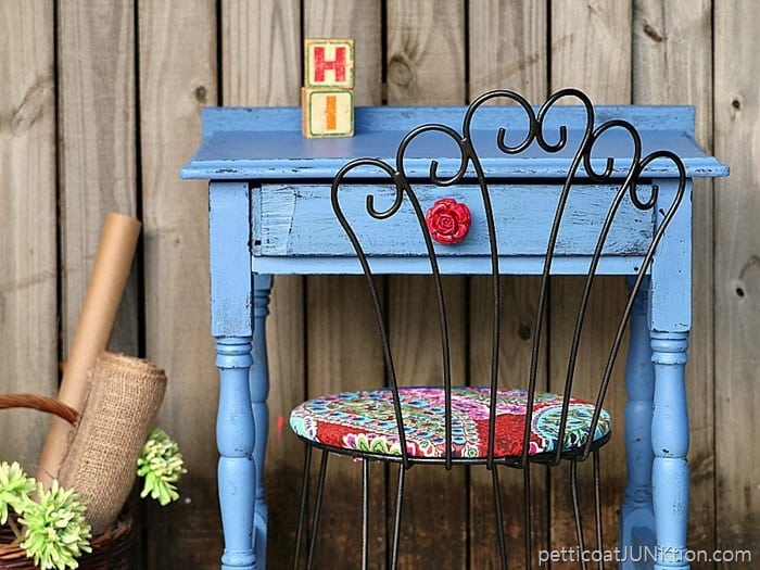 How To Paint Vintage Furniture And What Was That Fabric