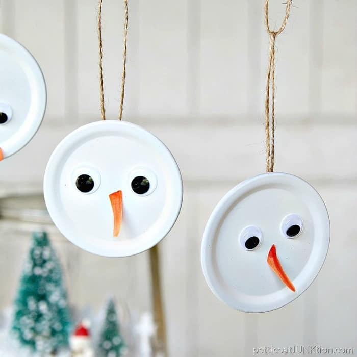 Fun Snowman Handmade Christmas Ornament Is The Tops project by Petticoat Junktion 1