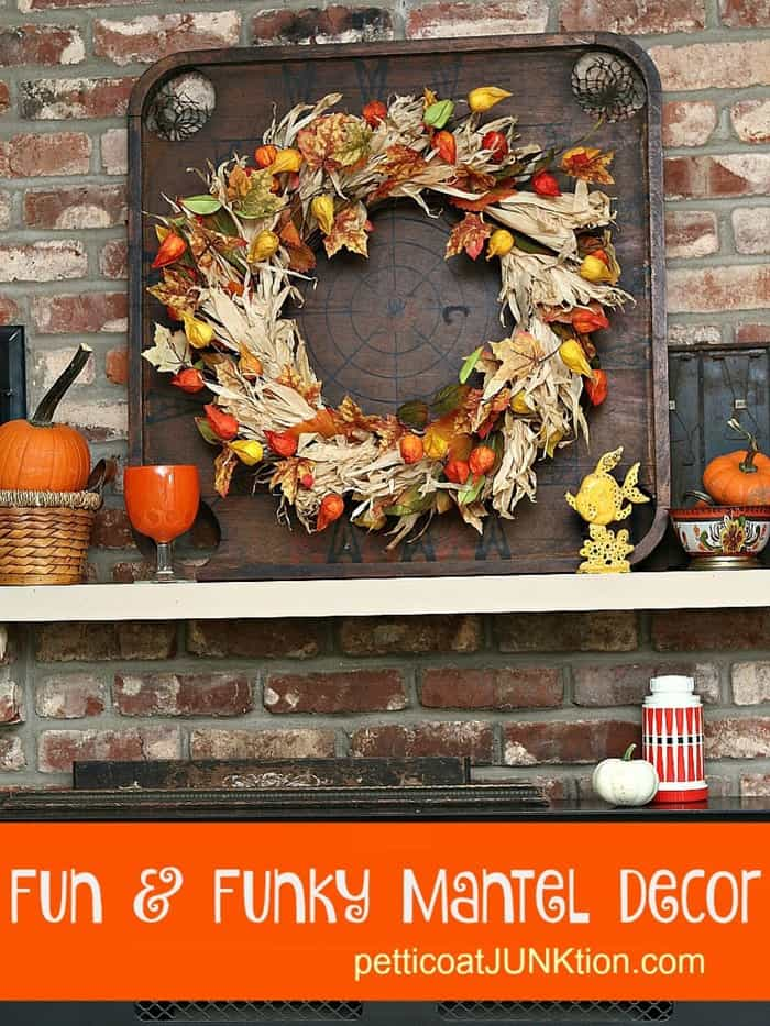 Fun and Funky Mantel Decor from Petticoat Junktion