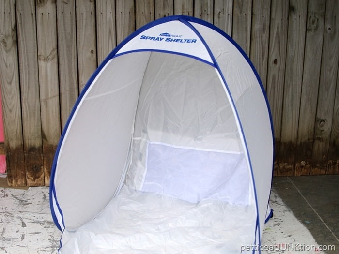 Homeright small spray shelter for spray paint projects