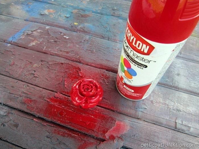 Krylon Cherry Red Gloss paint