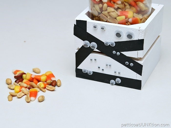 Mummies The Word For This DIY Crate Project Petticoat Junktion candy corn treat