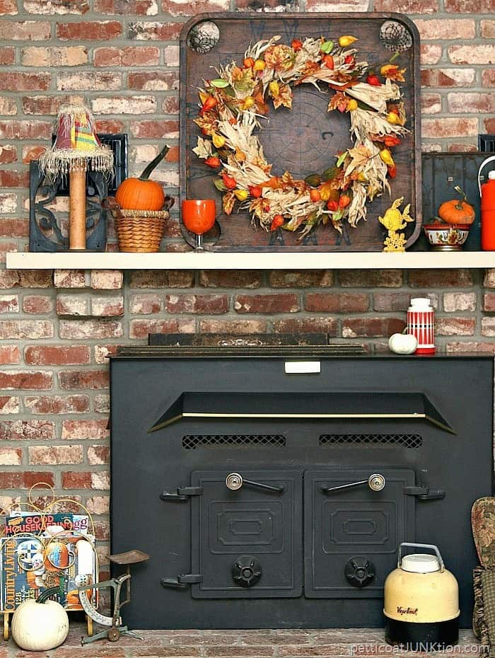 My Mantel Decor has to be fun and funky Petticoat Junktion how to decorat the mantel