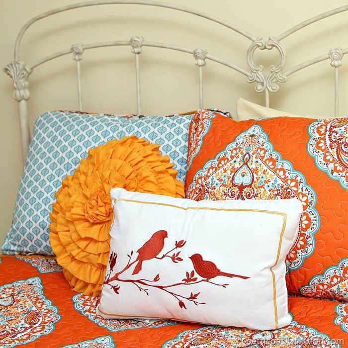 Budget Bedding In Turquoise And Orange From Bargain Hunt Petticoat Junktion Ping Trip