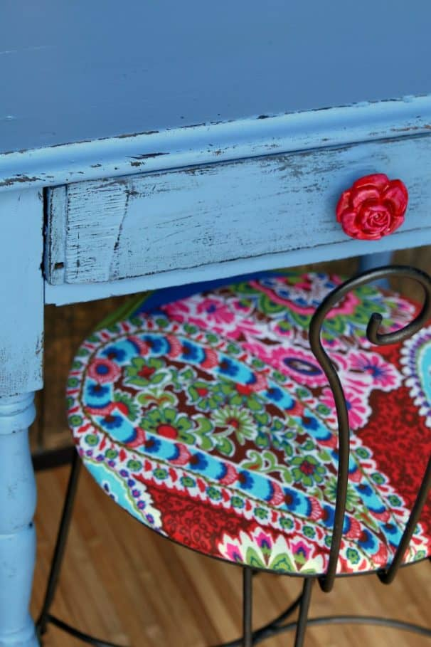 cherry red spray paint for rose petal drawer pull