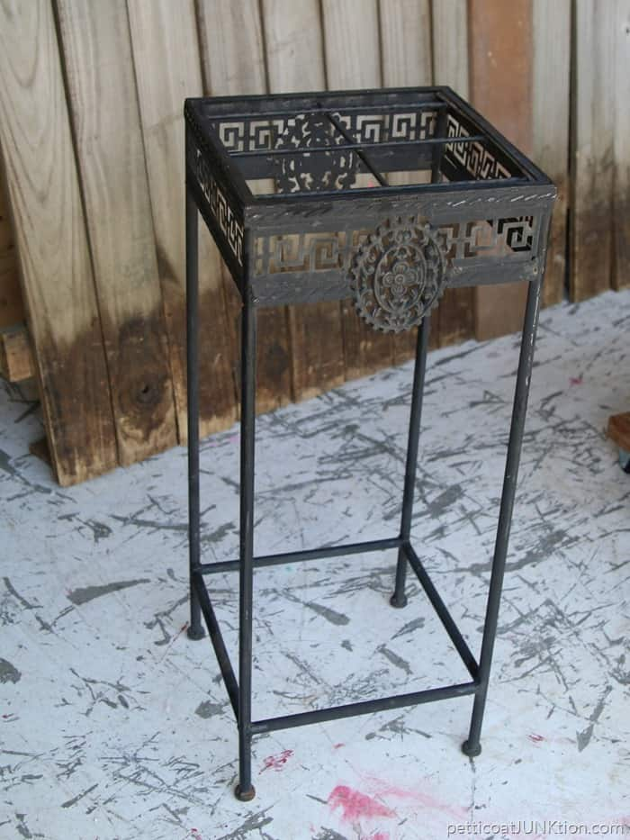 decorative metal table base