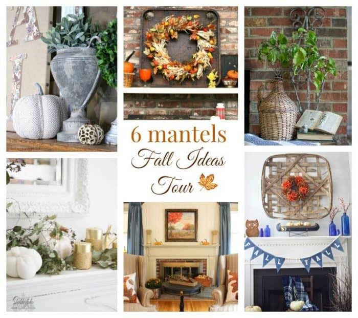 Fall ideas for decorating the mantel