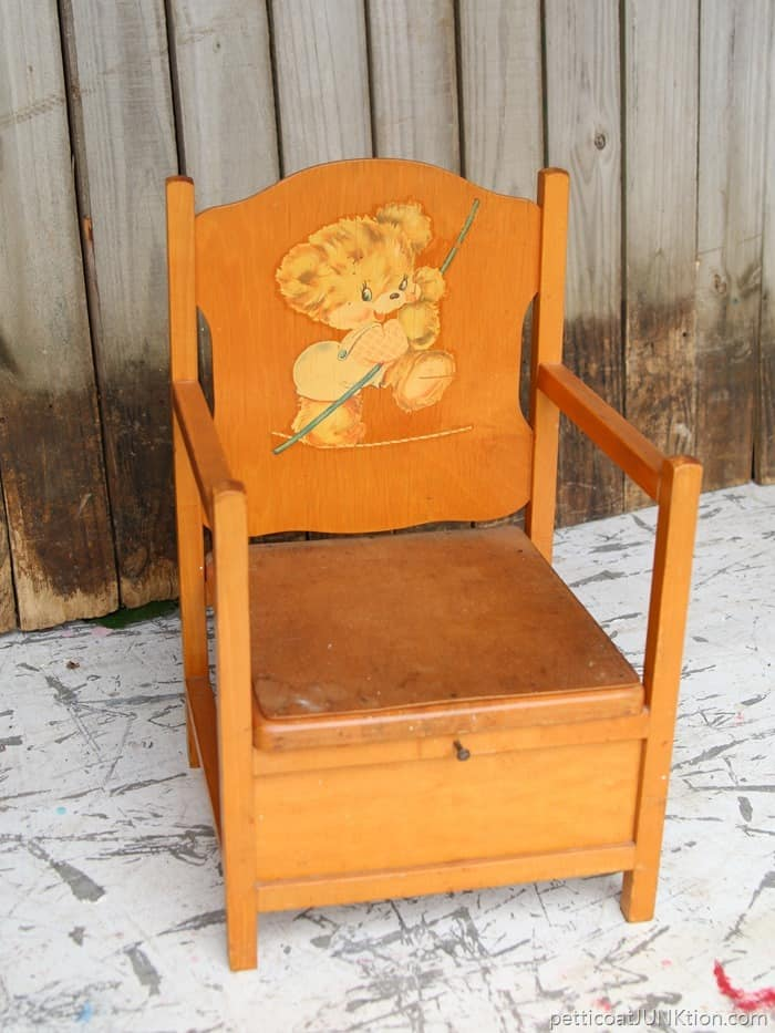 upcycled kids potty chair