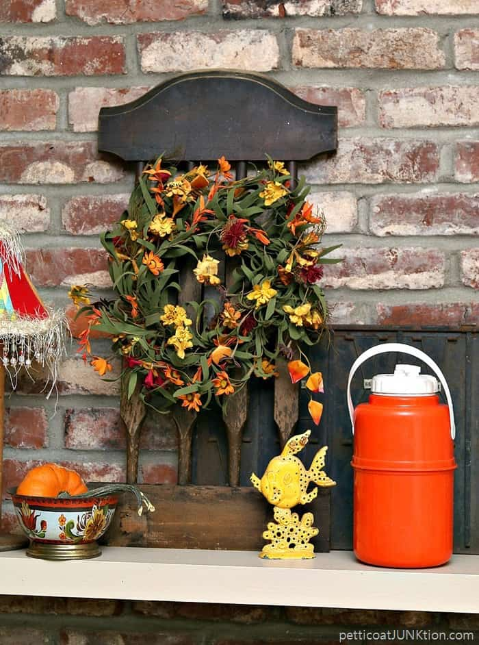 99 Cent Thrift Store Wreath Gets All Wired Up Petticoat Junktion Fall wreath