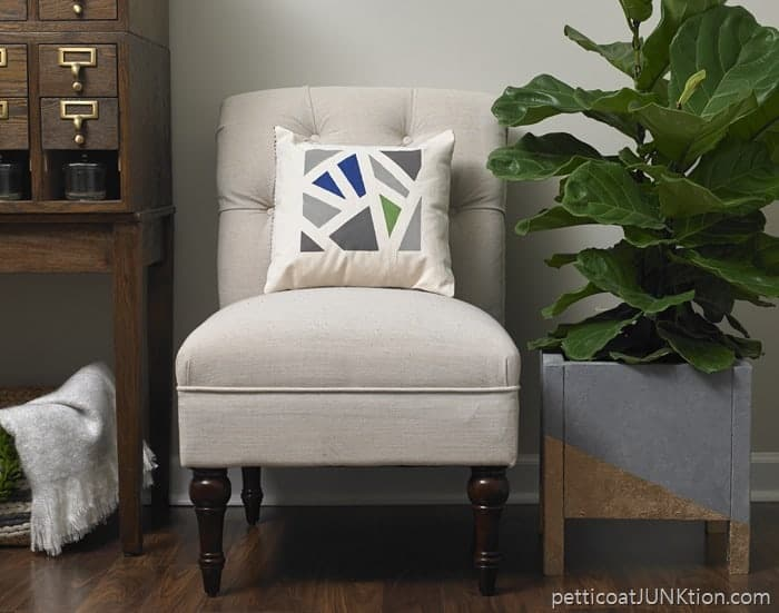 Chair and Planter Plaid Room Reveal