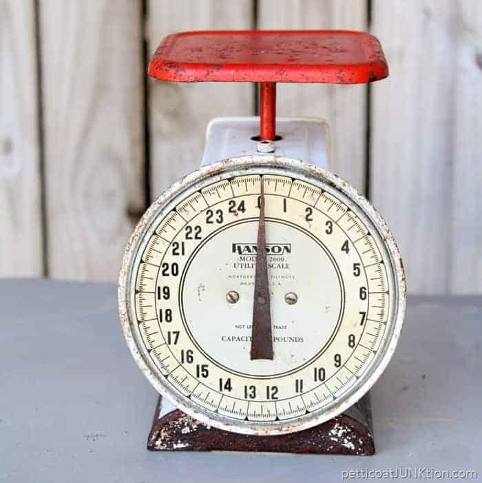 Estate Sale Finds Red Vintage Kitchen Scale