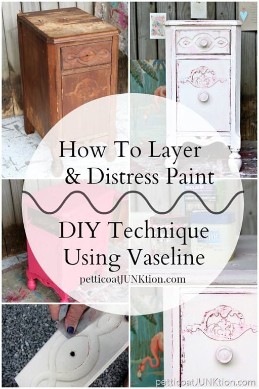 How To Layer And Distress Paint With Vaseline Tutorial