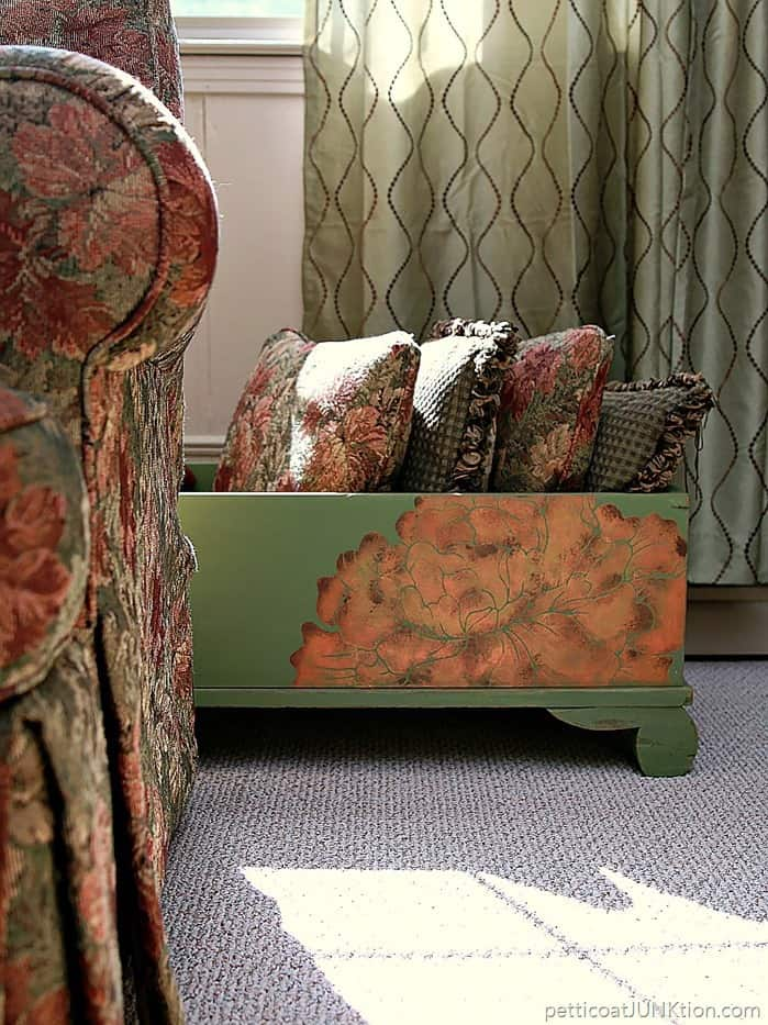 Layering Paint Colors give stencils depth and texture