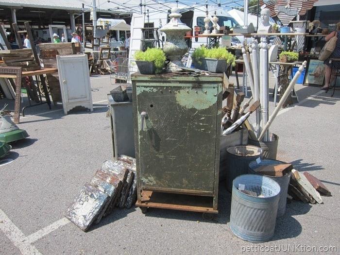 Nashville Flea Market Shopping Trip and a green metal cabinet I love