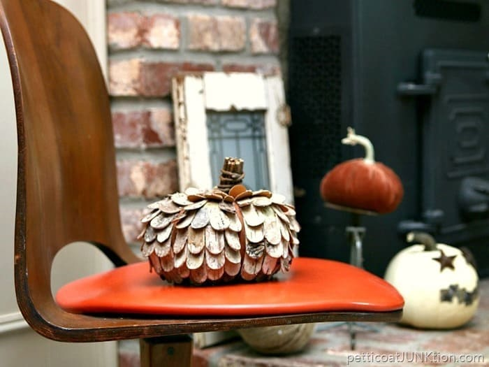Pumpkin Mantel and Hearth Decorations