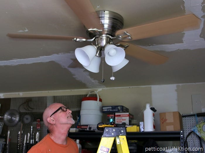 ceiling fans installed