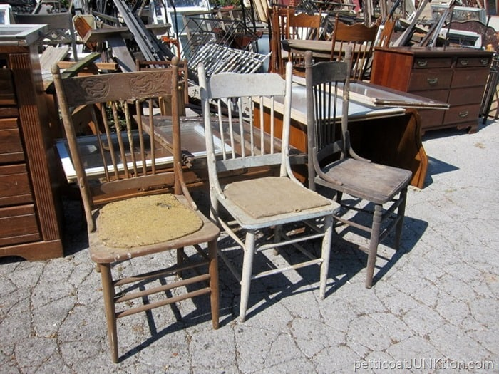 antique chairs at My favorite junk shop