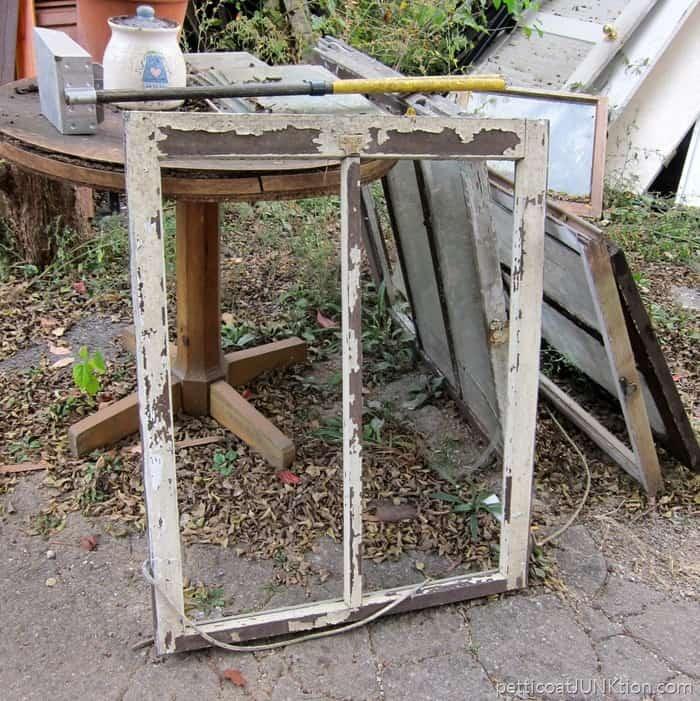 reclaimed window frame