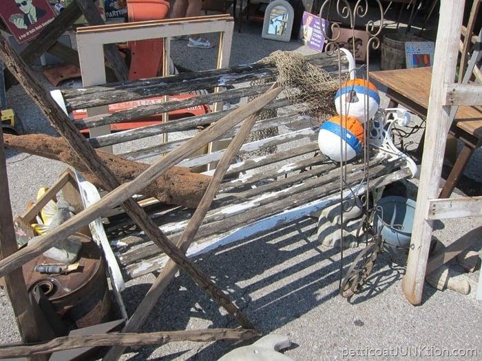rustic bench Nashville Flea Market Shopping Trip