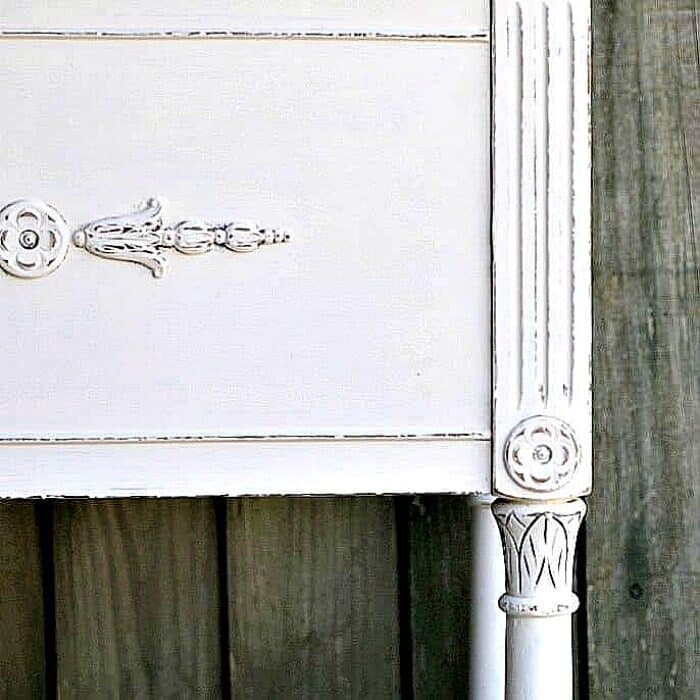 white distressed paint