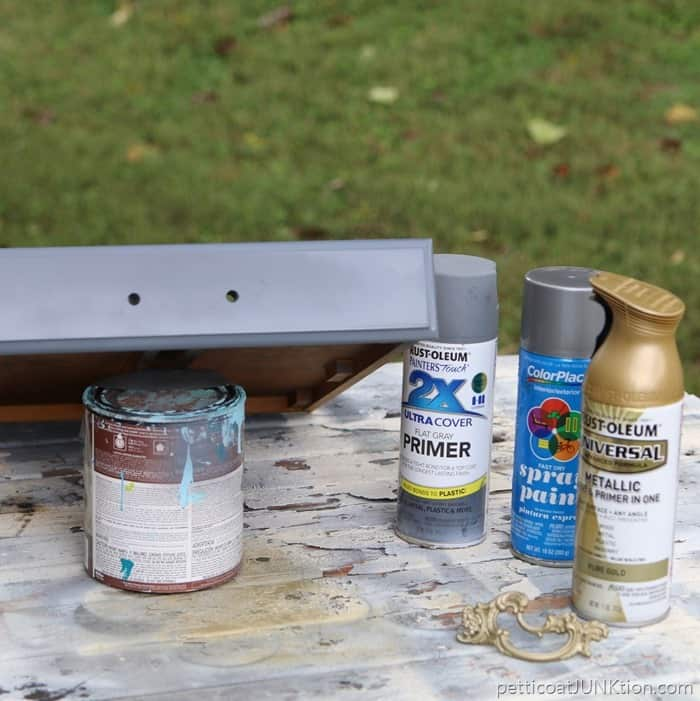 Spray Paint Supplies For Glitz And Glamour Project