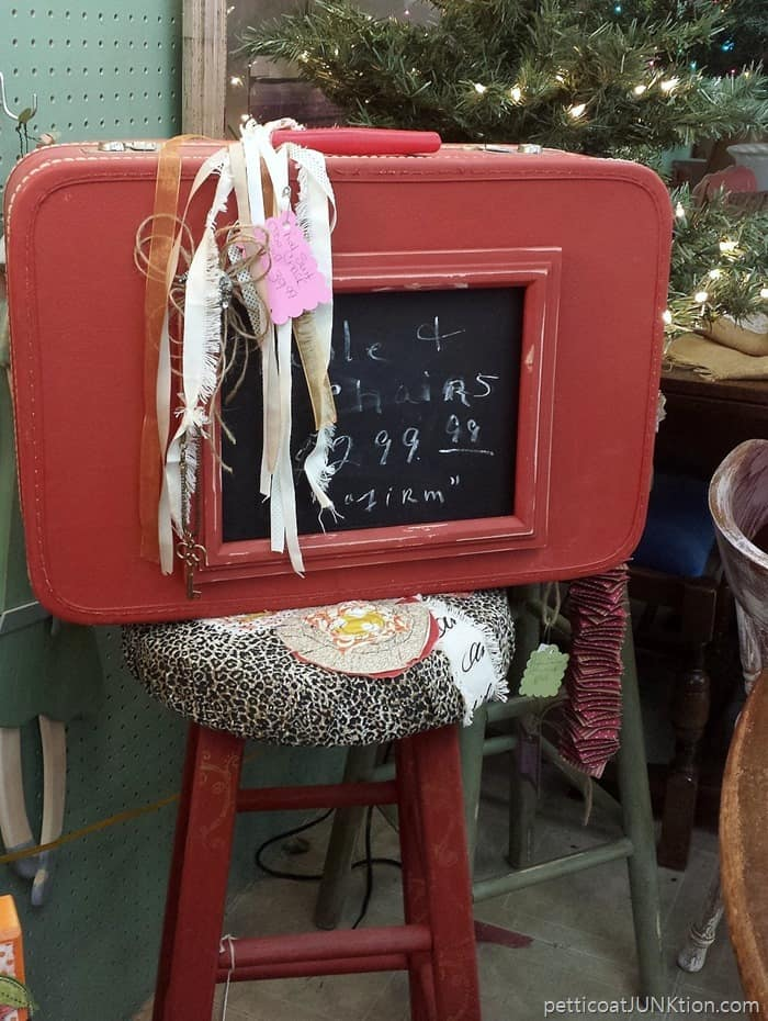 suitcase chalkboard An Antique Shop In Texas
