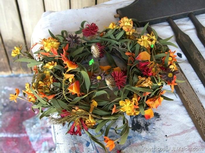 thrift store wreath