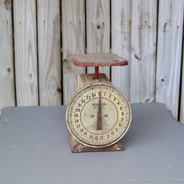 Antique Kitchen Scale: Estate Sale Finds: Red Vintage Kitchen Scale